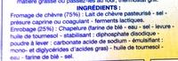 6 Fromages de Chèvre à Dorer - Ingrédients - fr