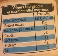 Fromage de chevre - Nutrition facts