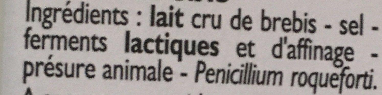 Roquefort - Ingredients - fr