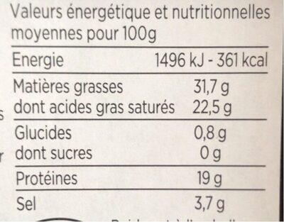 Roquefort - Nutrition facts - fr