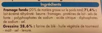 Kids - Bâtonnets et fromage fondu - Ingrédients