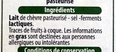 Fromage à tartiner  chèvre - Ingredienti - fr
