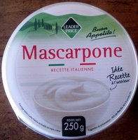 Mascarpone (41% MG) - 250 g - Leader Price - Produit - fr
