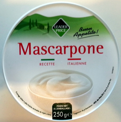 Mascarpone (40% MG) - 250 g - Leader Price - Product - fr