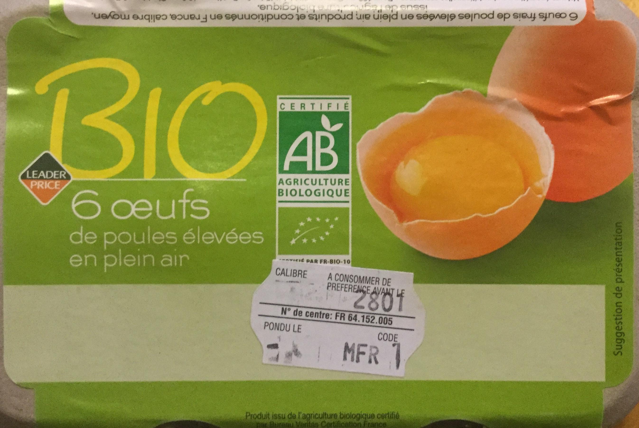 Oeufs de poules élevées en plein air Bio - Product - fr