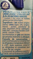 Specialité Laitière - Ingrediënten - fr
