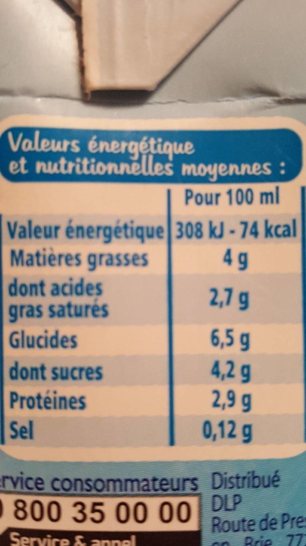 Specialité Laitière - Voedingswaarden - fr