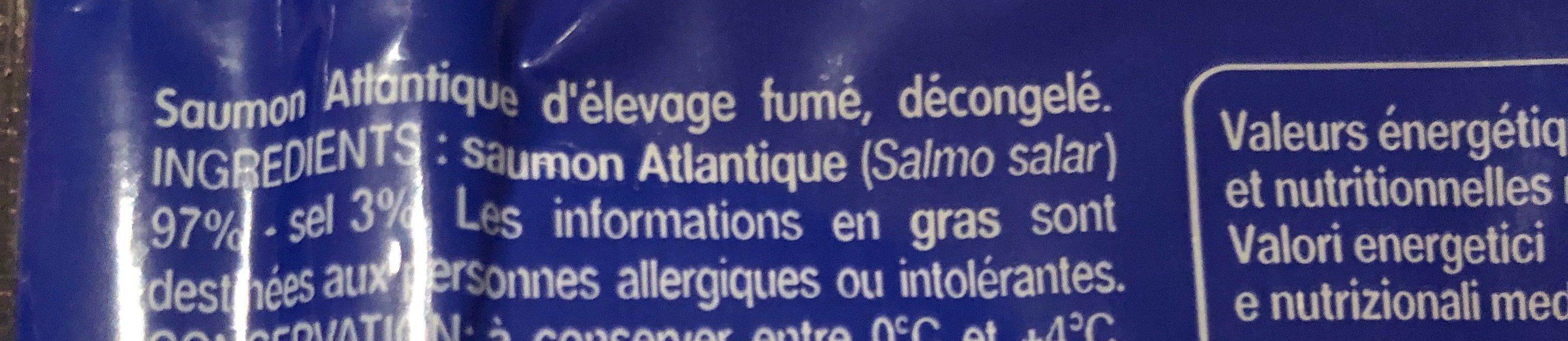 Saumon fumé - Ingredienti - fr
