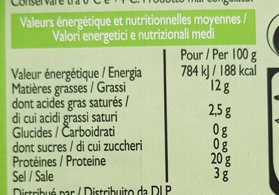 Saumon Atlantique fumé - Valori nutrizionali - fr