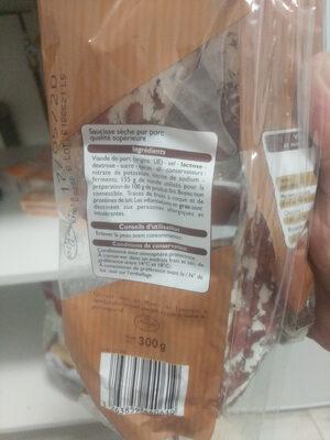 Saucisse sèche - Ingrediënten - fr