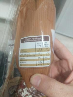 Saucisse sèche - Voedingswaarden - fr