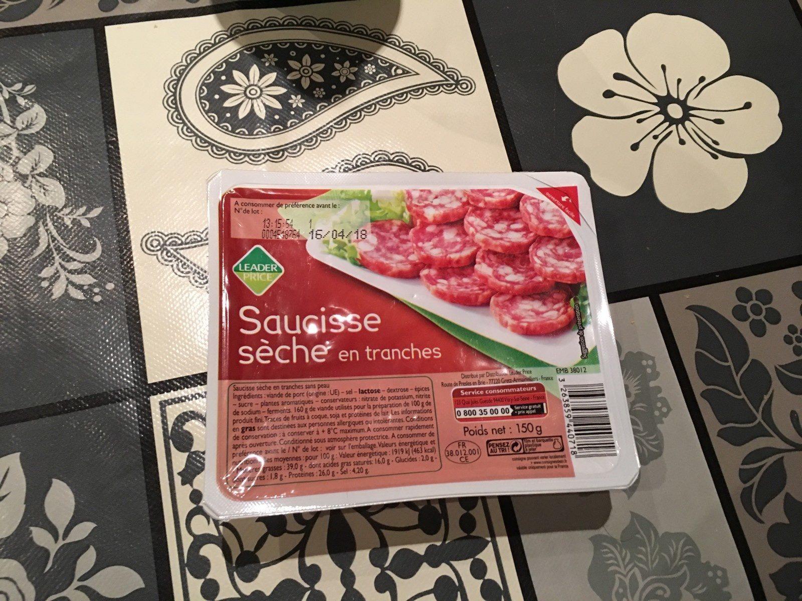 Saucisse Sèche - Ingredienti - fr
