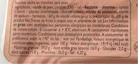 Saucisse Sèche - Valori nutrizionali - fr