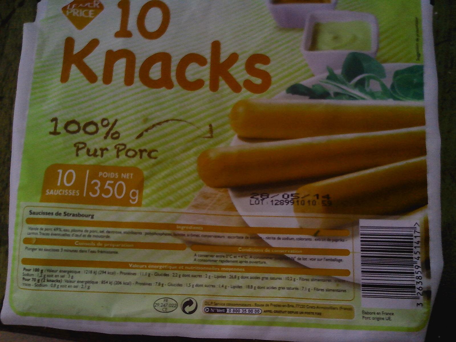 10 Knacks - Saucisses de Strasbourg - Product - fr