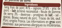 Boudins noir aux oignons - Ingrédients - fr