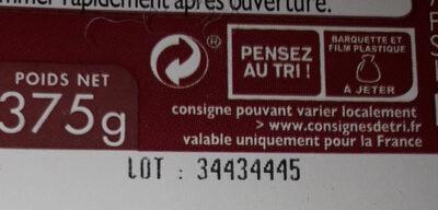 Boudins noir aux oignons - Instruction de recyclage et/ou informations d'emballage - fr