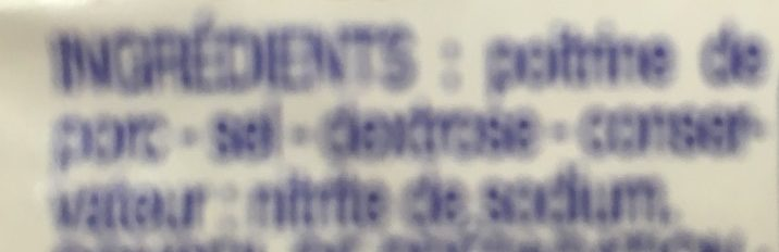 Poitrine fumée - Ingrédients - fr