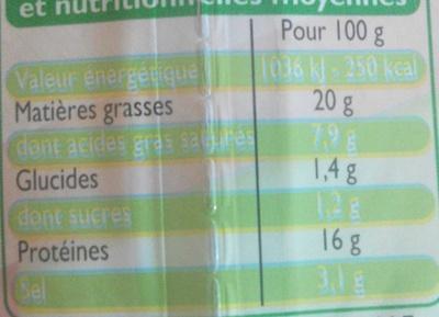 Allumettes nature - Informations nutritionnelles - fr