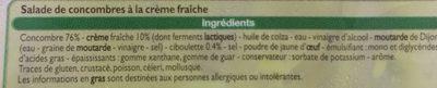 Concombres à la crème - Ingrediënten - fr