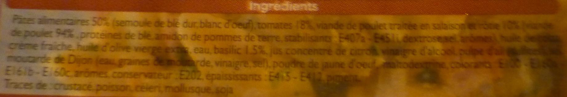 Penne au poulet - Ingrediënten
