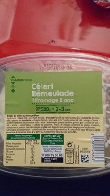 Céleri rémoulade au fromage blanc - Ingredients