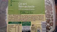 Céleri rémoulade au fromage blanc - Nutrition facts