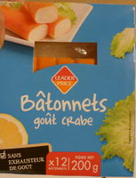 Bâtonnets goût crabe - Produit