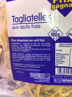 Tagliatelles aux Œufs Frais - Ingrédients - fr
