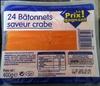 24 bâtonnets saveurs crabe - Product
