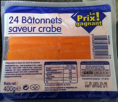 24 bâtonnets saveurs crabe - Product - fr