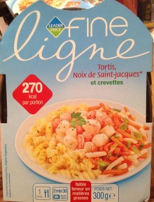 Tortis, Noix de Saint-Jacques* et crevettes - Produit - fr