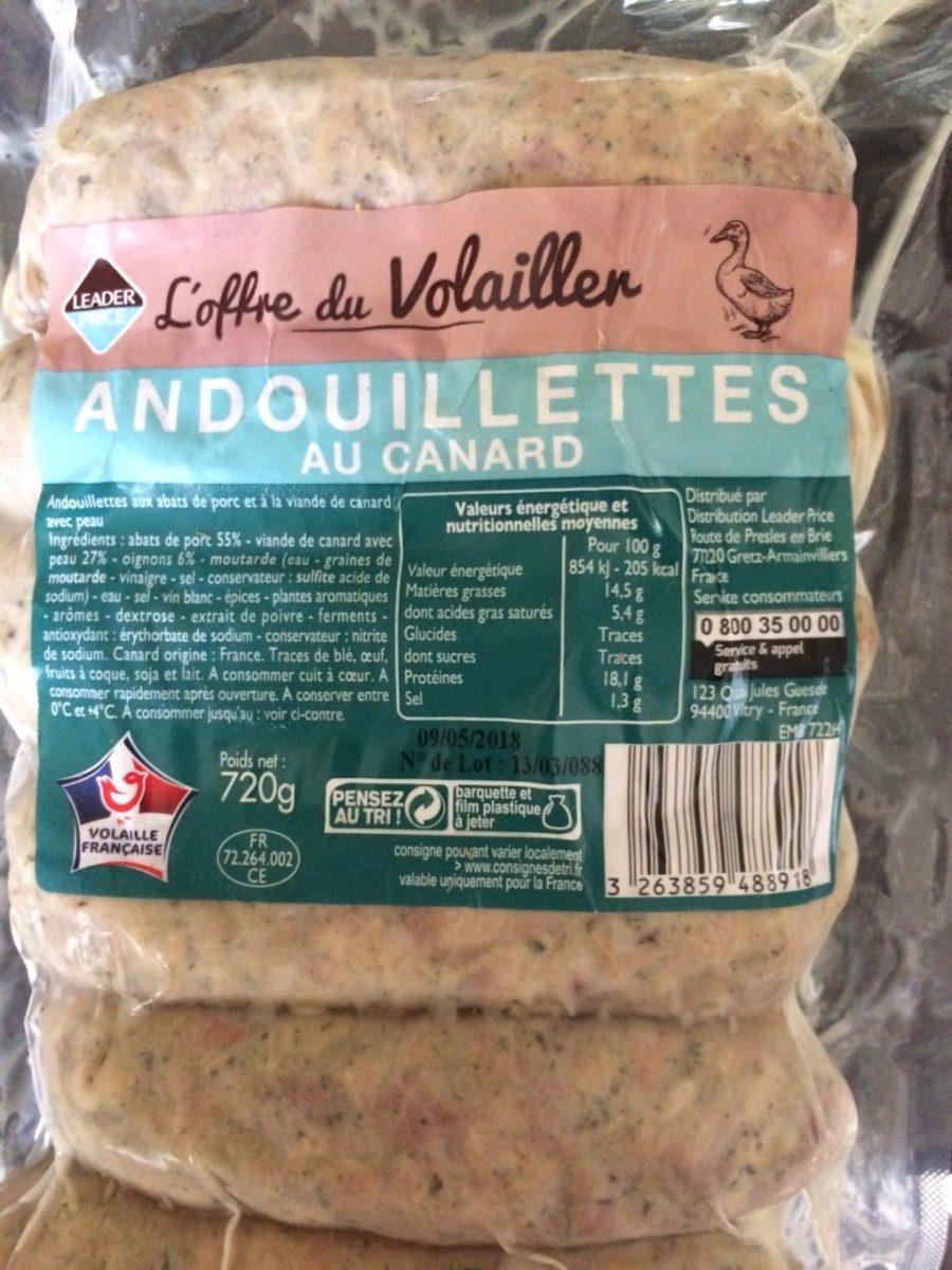 Andouillettes au canard X 6 - Product