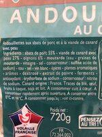 Andouillettes au canard X 6 - Ingrediënten
