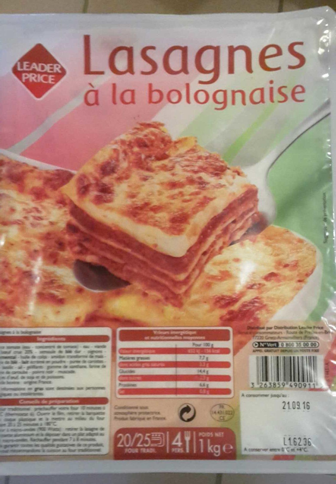 Lasagnes - Produit - fr