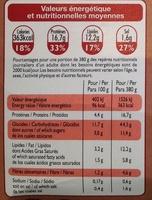 Tomates farcies et riz cuisiné - Nutrition facts - fr