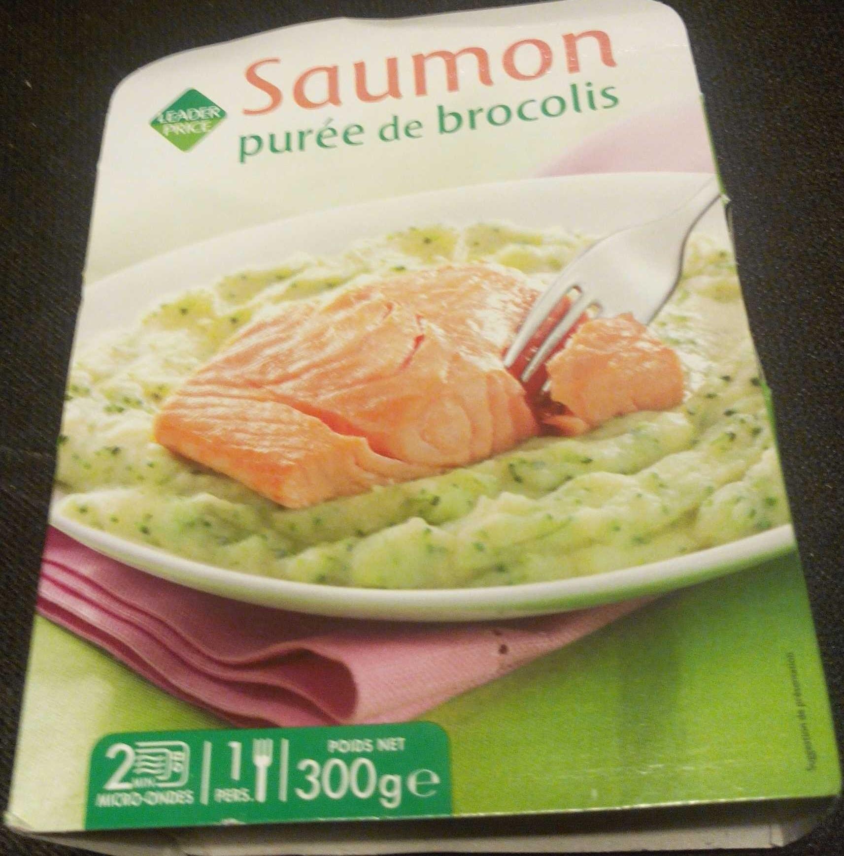 Saumon purée de brocolis - Produit - fr