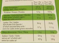 Saumon purée de brocolis - Informations nutritionnelles - fr