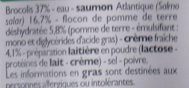 Saumon purée brocolis - Inhaltsstoffe - fr