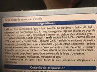 Tarte Saumon Oseille - Ingrediënten - fr