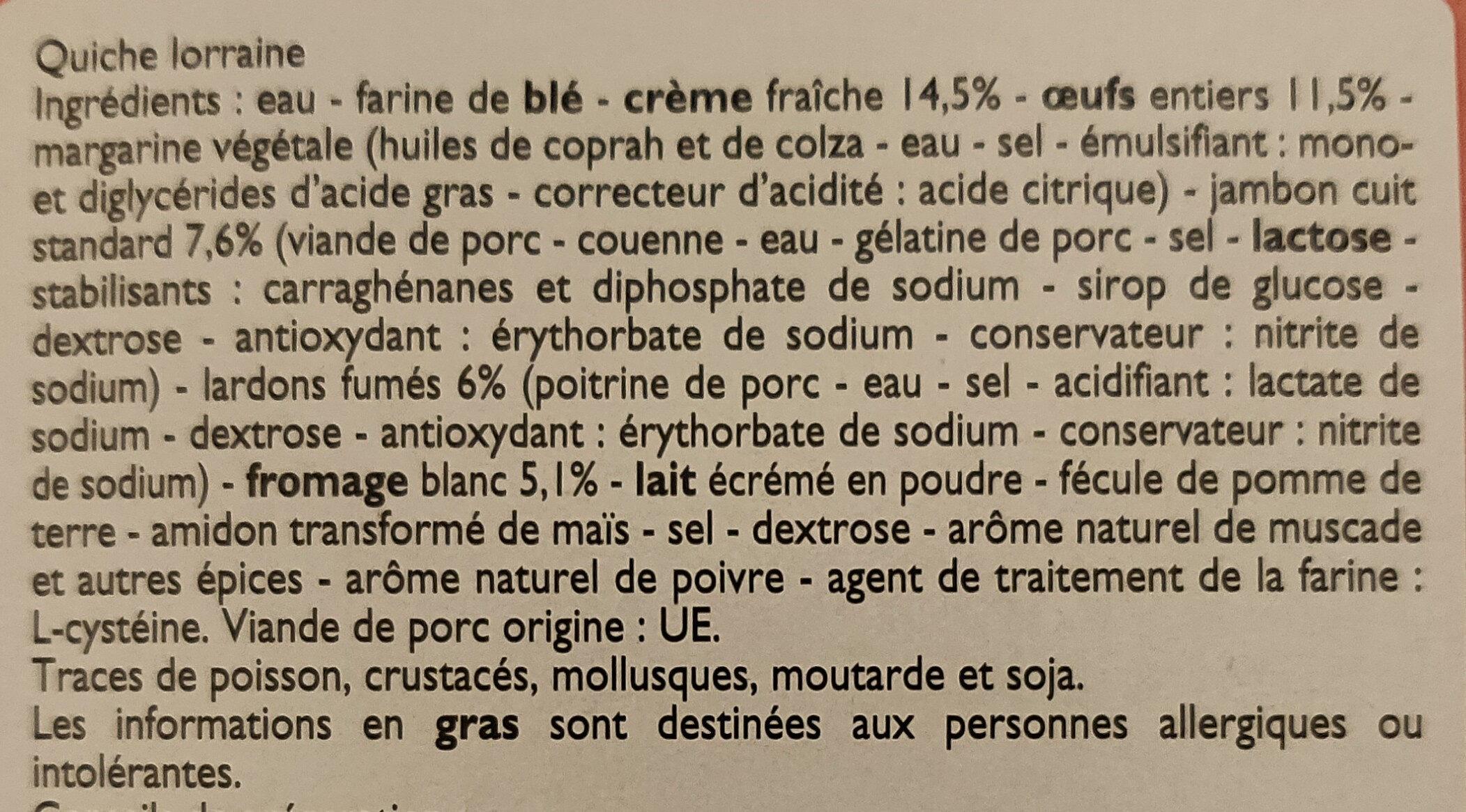 Quiche Lorraine - Ingredienti - fr