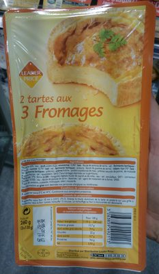 2 Tartes aux 3 Fromages - Product - fr