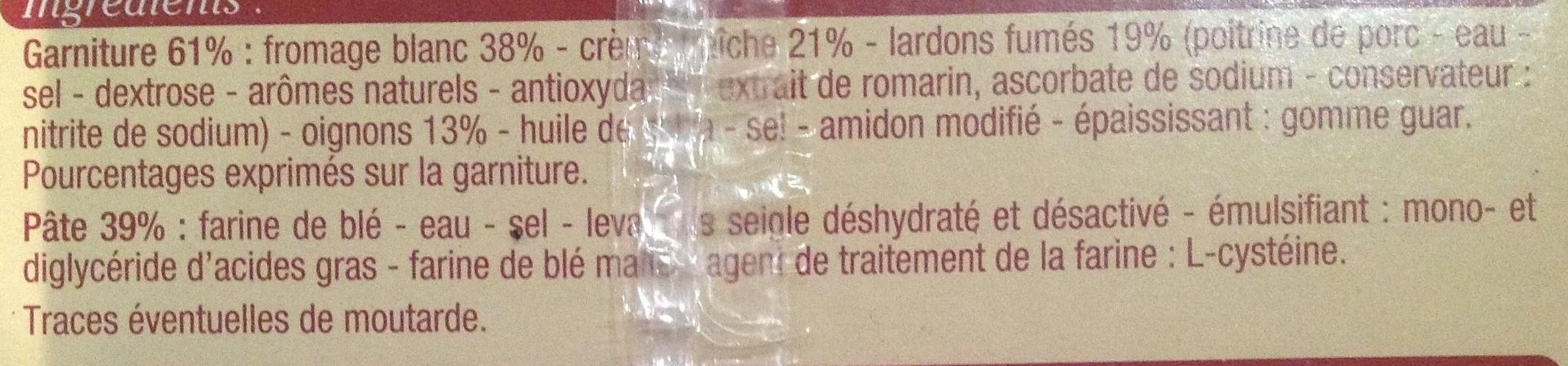 Tarte flambee alsacienne - Ingrédients