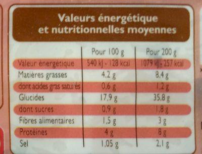 Délices du Monde Riz Cantonais - Nutrition facts - fr