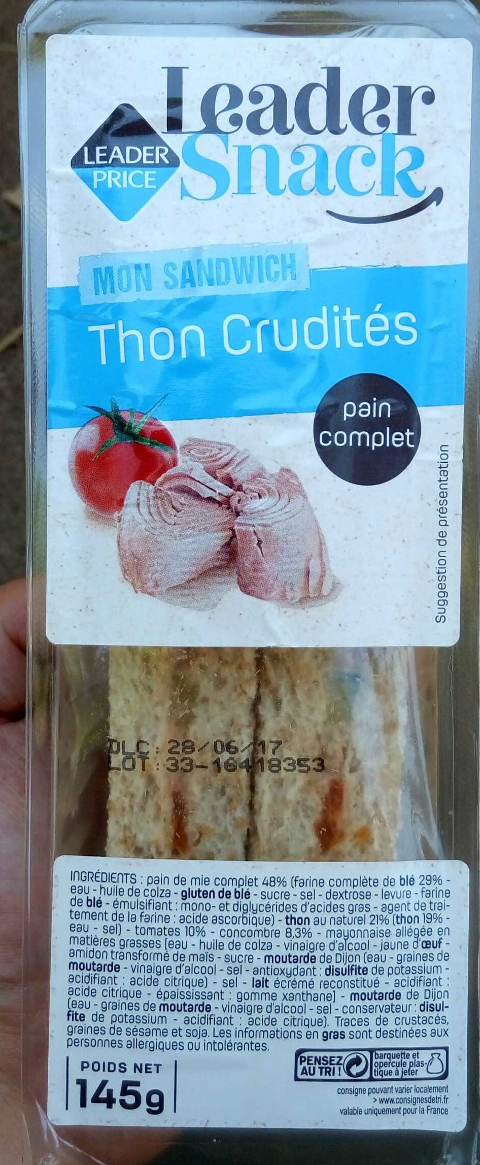 Sandwich thon crudités - Produit - fr