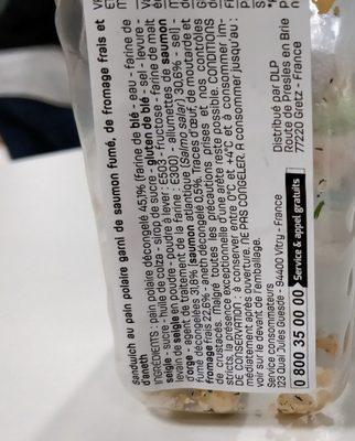 Saumon fumé Aneth - Ingrédients