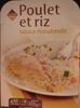 Poulet et riz sauce moutarde - Produit