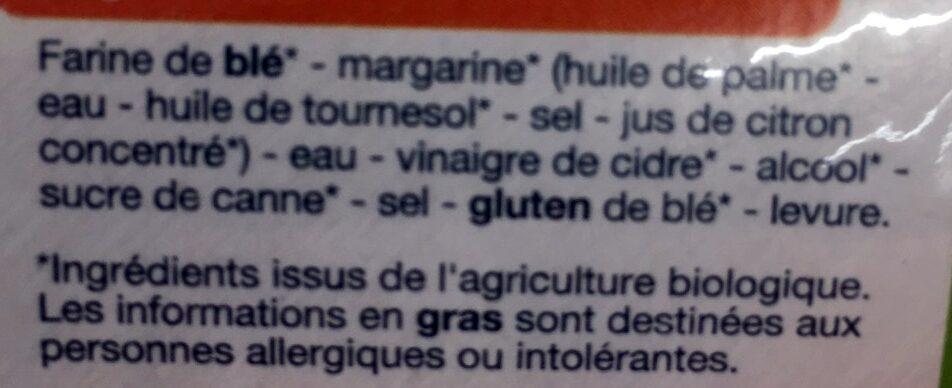 Pâte Brisée - Ingrediënten