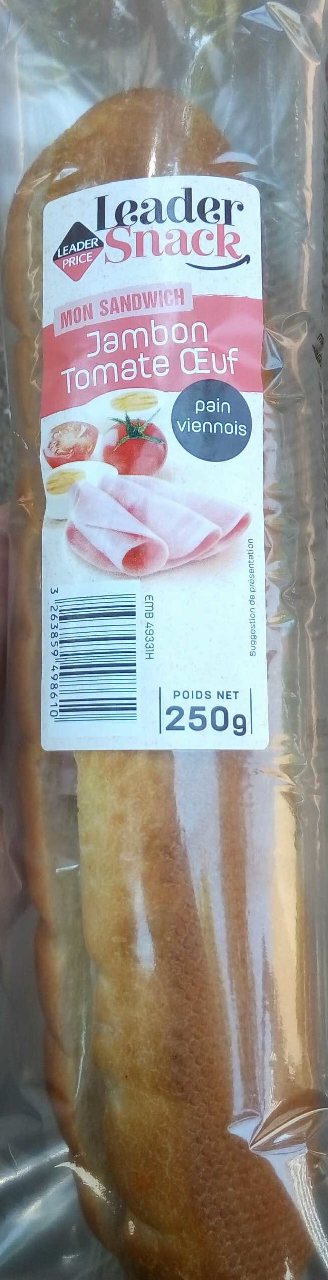 Mon Sandwich Jambon Tomate Oeuf - Produit - fr