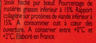 Steak haché - Ingredients - fr