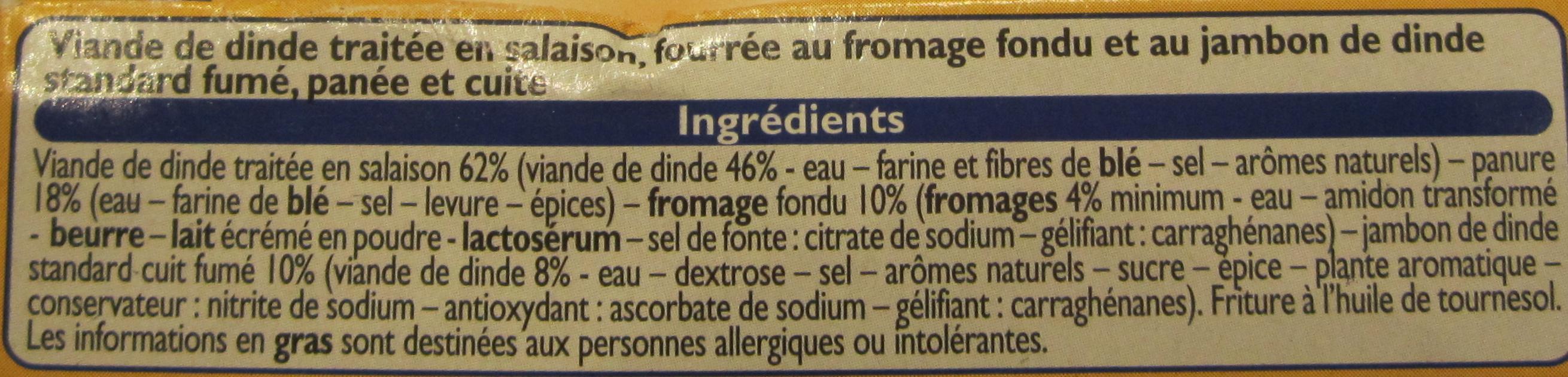Cordon Bleu de Dinde - Ingredients - fr